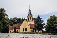 Tranekær kyrka Royaltyfria Bilder