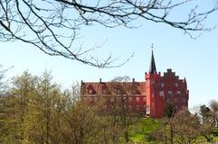 Tranekaer slott i den Langeland ön royaltyfria foton