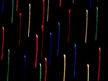 Traînées au néon de couleur Images stock