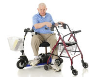 Tranferring One Mobility Aid to Another Stock Photos