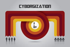 Tranformation过程Infographic 免版税库存照片