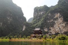 The Trang An Landscape Complex, Nihn Binh, Vietnam. Trang An exhibits an outstanding humid tropical, limestone tower karst landscape, which is considered to be a stock images
