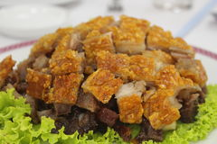 Trang roasted pork. Roasted pork on a dish for breakfast in Trang, Thailand Stock Photo