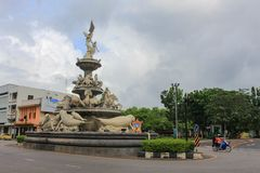 Trang, Tailandia - 15 giugno 2017: Rotatoria di dugongo di Trang il punto di riferimento che ogni turista Fotografia Stock Libera da Diritti