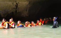TRANG, THAILAND - JUNE 11: Emerald Cave or Morakot Cave on JUNE Stock Image
