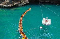 TRANG, THAILAND - 11. JUNI: Emerald Cave oder Morakot Cave Lizenzfreies Stockfoto