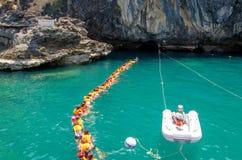 TRANG, THAILAND - 11. JUNI: Emerald Cave oder Morakot Cave im Juni Lizenzfreie Stockfotos