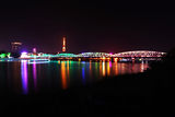 Trang Tien bridge by night Stock Images