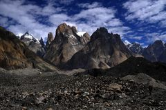 Trango Towers royalty free stock photo