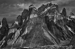 Trango Towers dramatic light Royalty Free Stock Image