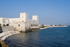 Trani (Apulia, Italië) - de kust stock afbeeldingen