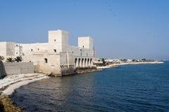 Trani (Apulia, Italy) - The coast. Trani (Puglia, Italy) - The coast with the ancient fortress stock images