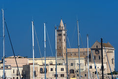 Trani (Apulia, Italy) - Harbor and city Royalty Free Stock Images