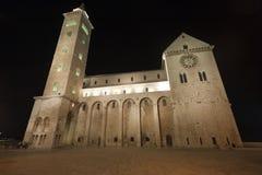 Trani (Apulia) - Kathedraal bij nacht Royalty-vrije Stock Afbeelding