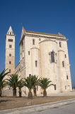 Trani (Apulia) - Medieval cathedral. Trani (Puglia, Italy) - Medieval cathedral and palm trees Stock Image