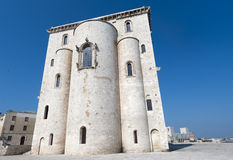 Trani (Apulia) - Medieval cathedral, apse. Trani (Puglia, Italy) - Medieval cathedral, apse stock image