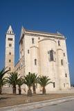 Trani (Apulia) - Middeleeuwse kathedraal stock afbeelding