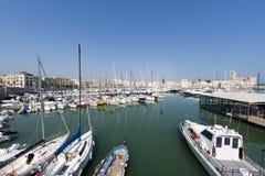 Trani (Apulia) - puerto Imágenes de archivo libres de regalías