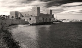 Trani Castle on the sea Stock Photography