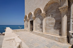 Trani cathedral detail. Detail of the Trani cathedral - Apulia, Italy Stock Photography