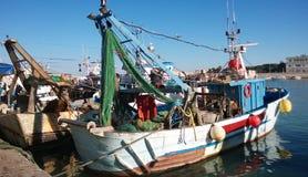 Trani fisherman boat Royalty Free Stock Photos