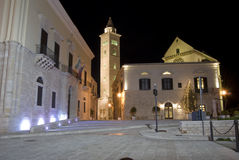 Trani by night. Square near cathedral in Trani, Apulia, Italy Royalty Free Stock Photography