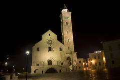 Trani by night- cathedral Royalty Free Stock Photo