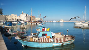 The trani port Stock Images