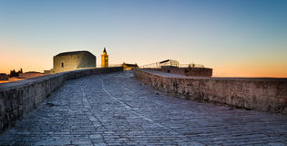 Trani, Puglia, at sunset Royalty Free Stock Photo