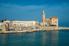 Trani, scenic town at Adriatic sea, Puglia, Italy Stock Photography