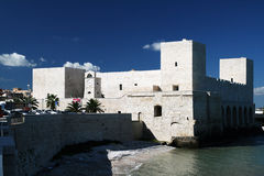 Trani slott Arkivfoton