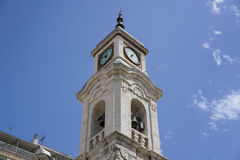 Trani view on coast stock image