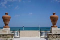 Trani view on coast stock photo