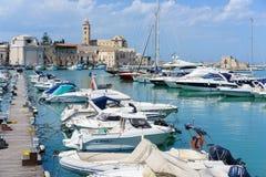 Trani view on coast royalty free stock photography