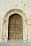 Trani view of the portal window Royalty Free Stock Images