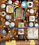 Tranistor radio circuitry Royalty Free Stock Photo