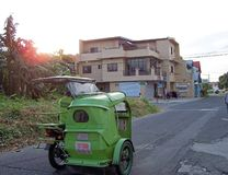 Tranport del coche lateral de la vecindad Foto de archivo libre de regalías