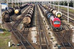 tranportation железной дороги масла стоковая фотография rf