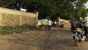 Tranportation  , horse cart , cambodia stock video