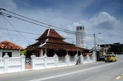 The Tranquerah Mosque or Masjid Tengkera Royalty Free Stock Photos