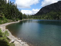 Tranquil alpine lake Royalty Free Stock Photography