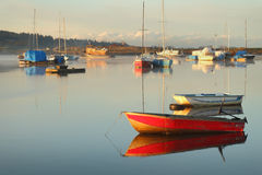 Tranquil Anchorage, Nicomekl River, British Columbia Stock Photo