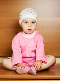 Tranquil baby girl Stock Images