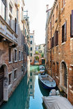 Tranquil back canal in Venice, Italy Stock Photos