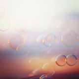 Tranquil background with soap bubbles Royalty Free Stock Photography