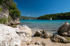 Tranquil bay. Tranquil Sivota bay, Nothern Greece in summer Royalty Free Stock Images