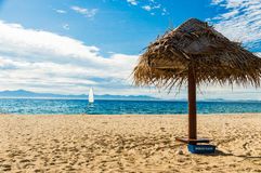 Tranquil beach scene on wonderful afternoon Royalty Free Stock Images