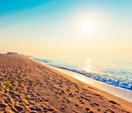 Tranquil Beach Sunrise Royalty Free Stock Photo