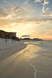 Tranquil beach sunset Royalty Free Stock Photo