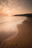 Tranquil Beach Sunset Stock Photo